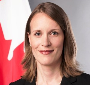 Canadian High Commissioner to Guyana Dr. Nicole Giles.