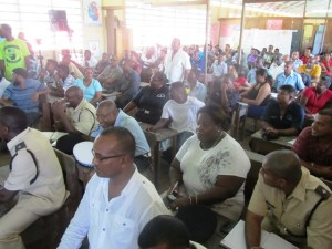 Some of the residents at the meeting at the Meten - Meer - Zorg Primary School. [iNews' Photo]