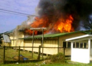A secondary school in Canal was recently destroyed by fire.