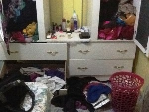 The ransacked house. [iNews' Photo]