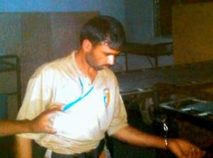 UN peacekeeper, Muhammad Naseem, from Pakistan, handcuffed to bed by a policewoman he attempted to rape