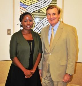 Ambassador Hardt and Goldie Scott.
