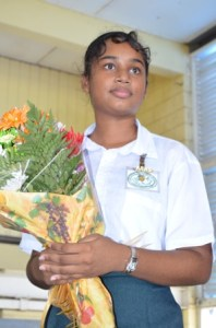 Guyana's CSEC Top Student, Zimeena Rasheed.