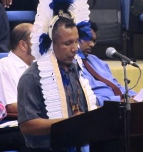 Chairman of the National Toshaos Council, Derrick John. [iNews' Photo]