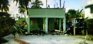 The burnt house.