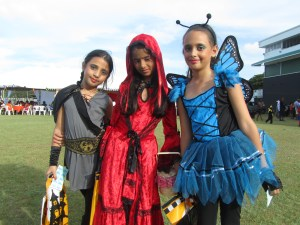 Some of the kids at the Halloween fair. [iNews' Photo]
