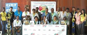 Flashback!! Sponsors and GFSCA executive members at the launching of Guyana Softball Cup III.