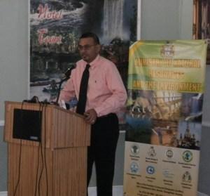 Environment Minister, Robert Persaud.