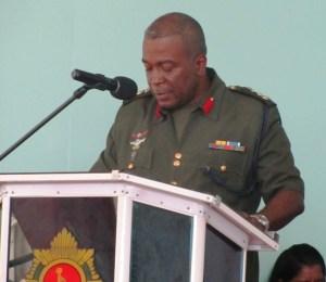 Chief of Staff of the GDF, Brigadier Mark Phillips. [iNews' Photo]