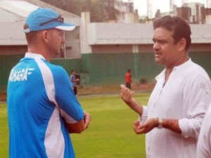 BCB Director Akram Khan (right) has promised to reinforce the security provided to the West Indies Under-19 team.