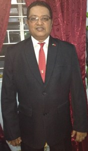President of the Guyana Badminton Association, Gokaran Ramdhani.