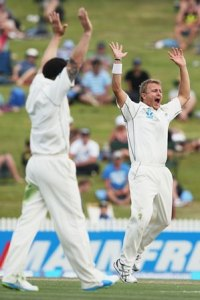Tim Southee appeals for a wicket.