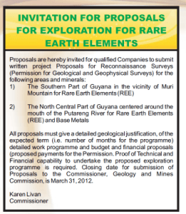 A copy of the Invitation for Proposals which was published in the newspaper.