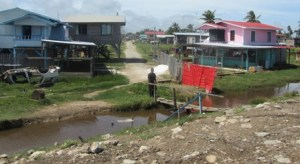 A section of the Mahaica community which is under threat. [iNews' Photo]