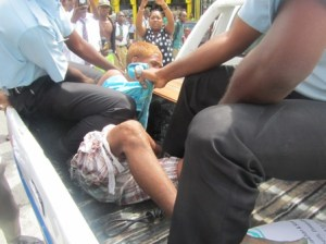 The 16 - year - old was arrested after his protest. [iNews' Photo]
