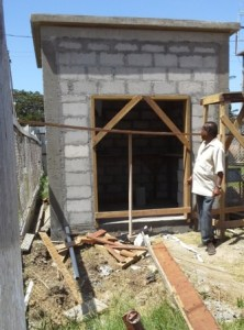 The Hut which will house the controls for the lights. [iNews Photo]