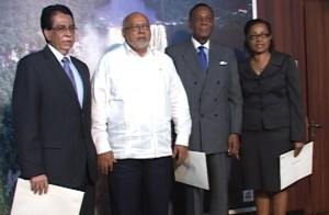 President Donald Ramotar and the Commissioners of the COI.