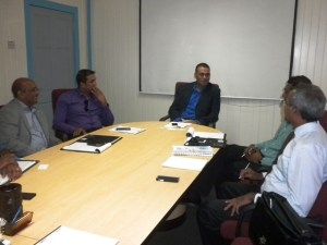 Executives of Earthmoving Company LUNA N.V during a meeting with Minister Persaud.
