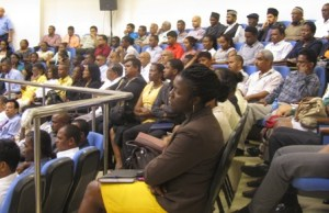 A section of the gathering at the National Consultation on the AML/CFT Bill. [iNews' Photo]