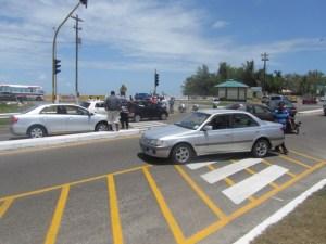The scene of the five vehicle smash up. [iNews' Photo]
