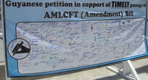 The petition signed by persons at the Conference Centre. [iNews' Photo]