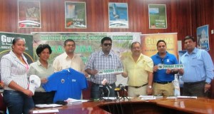 Tourism Minister (ag), Irfaan Ali along with other officials during the official launch of the Pakaraima Mountain Safari. [iNews' Photo]
