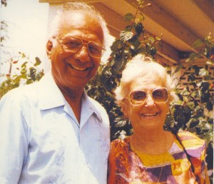 Former Presidents of Guyana, Dr. Cheddi Jagan and his wife, Janet Jagan.