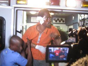 One of the injured plane crash victim. [iNews' Photo]