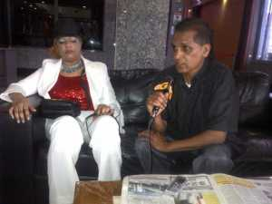 Christina Persaud and her business partner. [iNews' Photo]