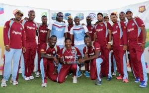 West Indies Pose After Series win