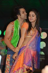 Arjun and Purvi during their performance in Guyana. [Photo extracted from Guyana Times]