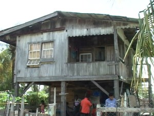 The house where the shooting took place. [iNews' Photo]
