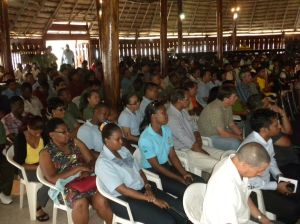 A section of the gathering at the Umana Yana.