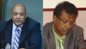 AFC Executive Member & Speaker of the National Assembly, Raphael Trotman and AFC Leader, Khemraj Ramjattan.