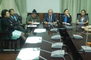 Amerindian MPs explain their reasons for voting against the allocation. [iNews' Photo]