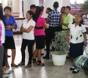 A number of Amerindians gathered at the National Assembly. [iNews' Photo]