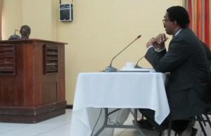 Attorney - at - Law, Basil Williams cross examines Gilbert. [iNews' Photo]