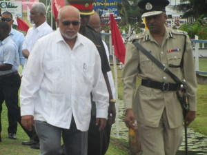President Donald Ramotar and Top Cop (ag) Seelall Persaud