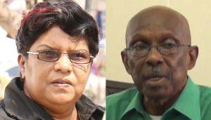 Town Clerk (ag) Carol Sooba and Mayor Hamilton Green.