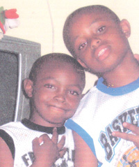 Six – year – old Jahaquel Blair and Jamal Waterman