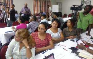 Some of the participants at the workshop.
