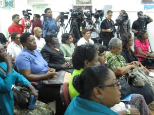 A section of the gathering at the announcement of the NGSA results. [iNews' Photo]