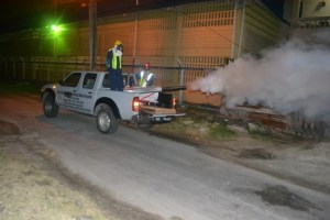 Fogging being done in Kitty, Georgetown in May