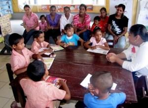 Hon. Priya Manickchand at Karamat Nursery School, Mahaicony Creek