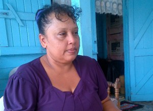 Grieving mother, Lynette Taramattia Daby. [iNews' Photo]