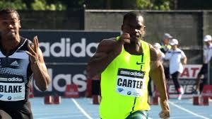 Nesta Carter who trash Blake in the 100m race