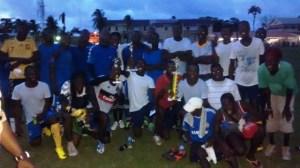 The winning Tiger Bay team