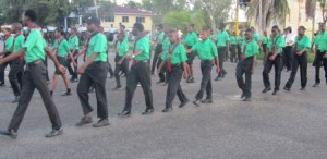 The Scouts at the parade. [iNews' Photo]