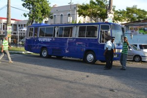 One of the minibuses contracted by the Ministry of Public Works. [GINA Photo]