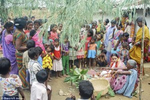 Around 70 relatives attended the ceremony in the eastern Indian state of Jharkhand.
